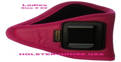 LADIES! Pink  IWB Gun Holster,Soft Eco Leather : Size 60 Fits: Smith & Wesson Bodyguard 38 Crimson Trace, Model 36, 37, 38, 49, 40, 42, 340, 360, 442, 637, 638, 640, 642, 649,Taurus Model 85, CIA, 605, 617, 650, 850, 905, M380 (revolver),Ruger LCR,