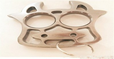 Iron Tiger 2 Fingers Knuckle Duster - Self Protection, Self Defense, Self Help, Key Ring!