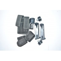 ASSORTED HANDGUN AND RIFLE MAGS WITH CASES AND REVOLVER SPEEDLOADERS