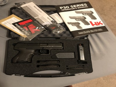 HK P30SK-V1 9mm Subcompact - Less than 50 rounds