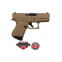 **NEW** Glock 43 9MM 6+1 2 Mags Cerakote FDE **NEW** (FREE LIFETIME WARRANTY & FREE LAYAWAY AVAILABLE) **NEW**