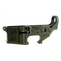 Spikes STLS019 Stripped Lower Spider w/Bullet Markings AR-15 Multi-Cal Black
