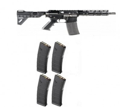 "FPA Close Out Sale!!! **NEW** ATI MILSPORT Forged Aluminum AR Pistol Black 5.56 NATO-223 7.5"" Barrel 7"" M-LOK Rail TF Blade 5 30Round Mags IS**NEW** (LIFETIME WARRANTY AVAILABLE &  FREE LAYAWAY AVAILABLE) **NEW**"