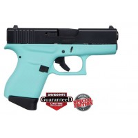 **NEW** Glock 43 Black Slide-Robin Egg Blue 9MM 6+1 2 Mags **NEW** (LIFETIME WARRANTY AVAILABLE & FREE LAYAWAY AVAILABLE) **NEW**