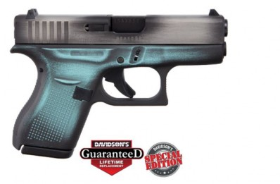 **NEW** Glock 42 Battleworn Robins Egg Blue .380 6+1 2 Mags **NEW** (LIFETIME WARRANTY AVAILABLE & FREE LAYAWAY AVAILABLE) **NEW**