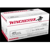 Winchester .45 ACP 230gr FMJ Target 300-rd 45 Auto THREE Value-Paks Ammo