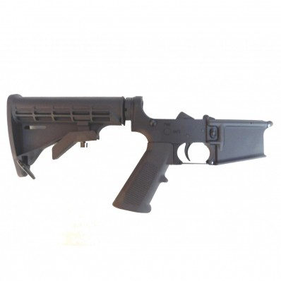 AR-15 Full Alum 7075 T6 Complete Lower Receiver 6 Position Stock