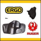Ruger LCR/LCRx Black Leather Slide Holster, Grip & Front Sight (Closeout!)