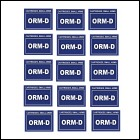 ORM-D Small Arms Cartridge Labels 1 Set of 15 Stickers Measures 2.5in X 2in Required For Shipping Ammo