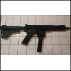 AR-9 9mm AR-15 BASED SEMI-AUTO PISTOL. GLOCK BASED PSA LOWER. DAVIDSON DEFENSE 9MM UPPER RECEIVER. 33ROUND MAG.