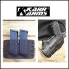 Kahr Arms CM9 PM9 Kydex Holster, Twin Mag Carrier, Pocket Holster & Three Magazines