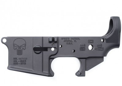 Spikes Tactical Lower (Multi) Forged Punisher - Bullet Markings