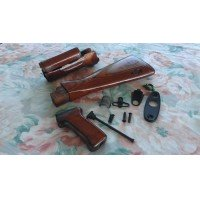 "NOS Genuine Russian AK AKM Laminated Wooden STOCK SET Complete Palm Swell ""FAT"" Grip"