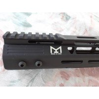 "AR10 17"" Free Floating HandGuard M-LOK Low Pro 308-LR DPMS Super Slim MADE in the USA"