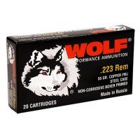 Wolf 5.56 NATO/.223 FMJ Target 500-rds 556 mm 223 Ammo