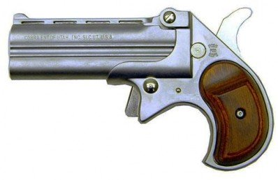 Cobra Long Bore .38 Special Derringer Satin Nickel w/Rosewood Grips 38 Layaway Available