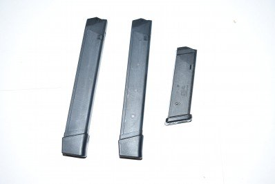 ASSORTED 9MM GLOCK MAGAZINES (HIGH CAPACITY) 1 17RD, 2 31RD