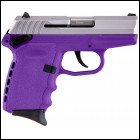 "SCCY Industries CPX1TTPU CPX-1 Double Action 9mm 3.1"" 10+1 Purple Polymer Grip/Frame G"