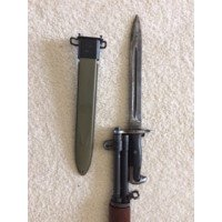U. S. Springfield M1 Garand Rifle with Original 1943 GI Bayonet