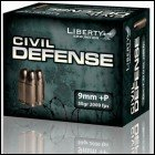 Liberty Civil Defense 9mm HP +P 50gr 40rds 9 mm Ammunition