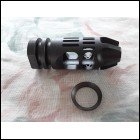 "Black Anodize ""EPSILON"" 223 556 Muzzle Brake w/ Crush Washer AR15 M16 M4"